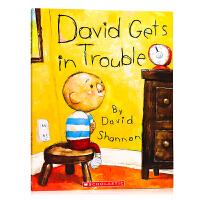 大�l惹麻�� 平�b David Gets In Trouble 英文原版�L本 David Shannon 大�l不可以系列