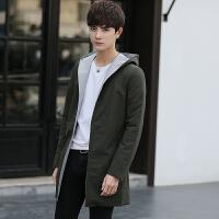 新款中长款风衣男士薄款外套青年修身夹克春季男装潮学生大衣 X