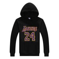 湖人科比24号运动卫衣休闲加绒加厚连帽卫衣KOBE篮球服男