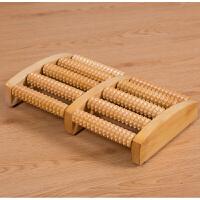 京朝创意全实木家用滚轮式足部木质按摩穴位搓排木制脚底按摩器足底按摩器