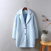 L6呢子大衣女冬装新款 韩版加厚 中长款茧型 显瘦毛呢外套1.1