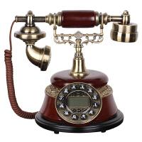 仿古电话机座机创意摆件 深红色