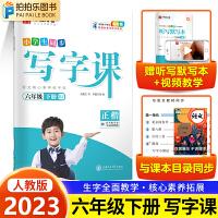小学生同步写字课六年级下册语文人教部编版