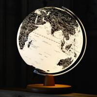 地球仪 25cm高清图欧式风格 LED地球仪灯 装饰台灯