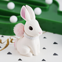 小兔子汽车钥匙扣女士韩国创意公仔背包书包双肩包挂饰可爱包挂件