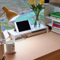 显示器增高架电脑抬高置物架宿舍白色支托架桌面键盘整理收纳架子