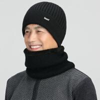 冬天中老年男护耳帽老年人针织毛线帽老人帽子男冬季保暖老头帽棉