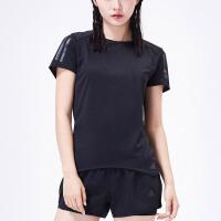 adidas阿迪达斯女子短袖T恤2018新款跑步训练休闲运动服CF2148