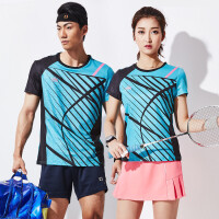 夏季运动服套装男女款羽毛球服上衣 速干透气短袖网球服裤裙