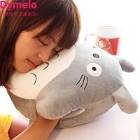 可爱龙猫暖手两用公仔毛绒玩具插手布娃娃暖手宝捂抱枕头抱枕被子