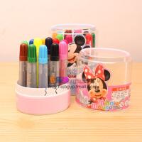 正品迪士尼水彩笔12色可水洗无毒儿童水彩笔套装礼盒小学生画笔