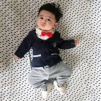 婴儿连体衣服宝宝新生儿哈衣女0岁3个月潮服6满月1春秋装外出服2