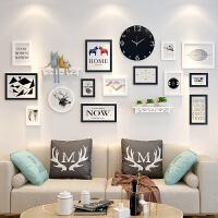 创意相框挂墙组合连体挂5 7 10寸相片框摆台画框洗照片加像框相架 组合套餐