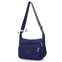 布包妈妈女士包包新款斜挎包中年女式运动尼龙帆布单肩女包 运动包