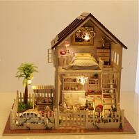 玩具创意房子模型 别墅小屋巴黎公寓手工生日礼物拼装