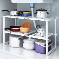 可伸缩水槽架子厨房置物架台下橱柜储物架厨房用品锅架碗架收纳架