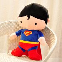 玩偶男生款 男孩 生日礼品超人蝙蝠侠毛绒玩具玩偶公仔送男孩男生生日礼物布娃娃玩偶抱枕