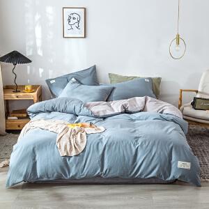 【领券立减100】床上四件套全棉纯棉床单4三件套1.5米被套简约1.8m床