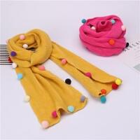 韩版儿童毛线围巾秋冬针织保暖围脖男女童时尚小孩宝宝脖套潮学生