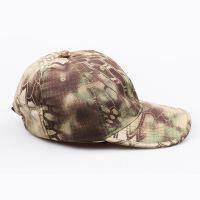 休闲户外运动迷彩战术蟒纹排汗棒球帽可折叠收纳携带方便舒适透气可调节大小军迷装备