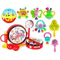 婴儿玩具 0-1岁 新生儿摇铃宝宝玩具幼儿摇铃3-6-12个月 8件鼓+摇铃7件+叮当球