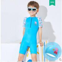 小猪佩奇 儿童泳衣女童小童中大童宝宝游泳衣男童连体速干防晒泳装
