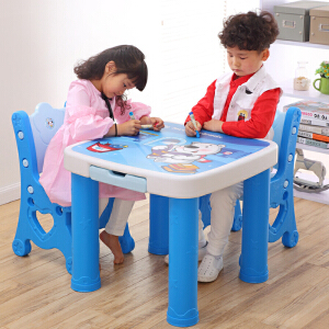 学习桌 简约双层男女宝宝书桌家用桌椅组合套装幼儿园桌子儿童椅子塑料桌满额减限时抢礼品卡儿童家具