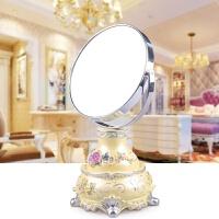 树脂化妆镜台式 书桌面双面镜大号高清便携简约梳妆公主美容镜子