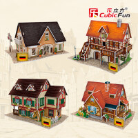 3D立体拼图拼装拼插 德国风情迷你建筑模型创意儿童玩具
