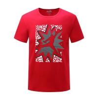 男士短袖T恤圆领篮球运动宽松半袖打底衫潮流纯棉体恤上衣服夏季