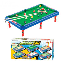 儿童曲棍球 桌面玩具6合1运动玩具六合一保龄球高尔夫足球篮球曲棍球桌3-7岁HW 桌面玩具六合一