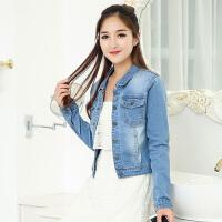 韩国春秋修身短款牛仔外套女显瘦韩版短外套百搭大码复古宽松上衣