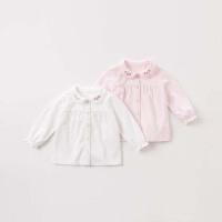 戴维贝拉秋冬新款女童衬衫 宝宝纯色衬衣DBZ8070