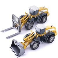 男孩压路车挖掘机翻斗叉车儿童玩具工程车宝宝耐摔合金车模型套装