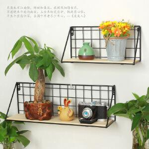 御目  置物架 简约现代壁挂式网格一字搁板收纳整理架厨房卫生间墙上储物架子家具用品