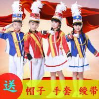 新款鼓号队服装中小学生管乐队服装幼儿园升旗手服仪仗队军鼓服装
