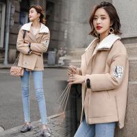 冬季新品女士短款西装领小版保暖上衣加厚外套 QYG9959图片色