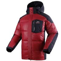 户外运动羽绒服 户外保暖羽绒服男款羽绒衣 深红色 L