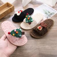 儿童棉拖鞋男童女童冬季居家毛毛拖宝宝保暖卡通棉鞋拖