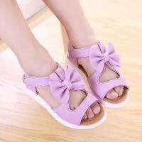 夏季�和��鲂�女童鞋公主鞋蝴蝶�Y�U空沙�┬�����鞋