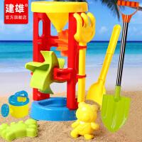 大号车沙漏挖沙铲子宝宝玩沙子决明子工具儿童沙滩玩具套装桶