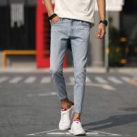 九分牛仔裤男修身小脚新款青少年弹力韩版学生9分裤子男生潮