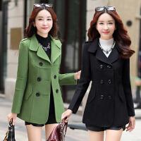韩版外衣服25-30岁40中青年少妇女装短款毛呢外套秋冬气质妈妈装