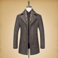 冬季毛呢外套男潮流韩版修身帅气加厚尼子中长款男士羊毛呢子大衣
