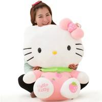 可爱大号水果Hellokitty公仔玩偶凯蒂猫毛绒玩具布娃娃-送女友