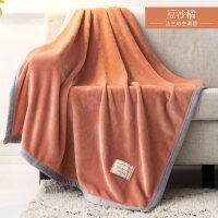 毛毯夏季薄款珊瑚绒毯子法兰绒加厚单人薄款空调午睡毛巾夏凉被子