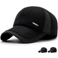 男士帽子 冬天中老年棒球帽保暖棉帽秋冬季爸爸爷爷护耳老人鸭舌帽