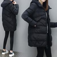 加肥加大冬装新款连帽棉衣胖妹妹大码女装中长款保暖显瘦羽绒 尺码偏大 不用刻意购买大一码的