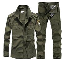 户外套装男秋季迷彩服军迷战术长袖训练服工作服野战套服