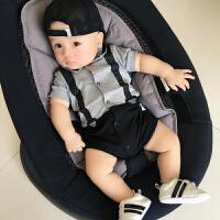 男婴儿连体衣服夏季宝宝夏装女新生儿哈衣0满月3个月薄款6纯棉1岁